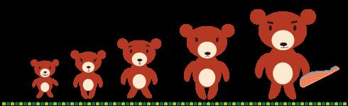 子育てトラのまき クマ